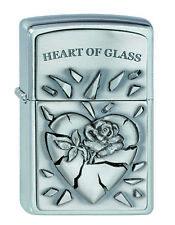 Zippo Coeur Heart of Glass emblème sur demande avec personnelle Gravure NEUF 2000848
