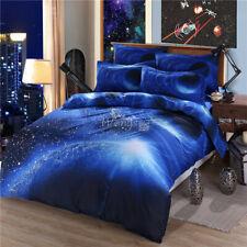 Moon&Stars Quilt Duvet Doona Covers Set Single Double Queen King Size Bed Linen