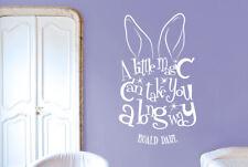 Roald Dahl A Little Magic Can Take You A Long Way Wall Stickers Vinyl Art Decals