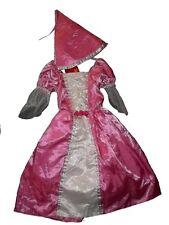 Superbe robe  PRINCESSE ROSE + CHAPEAU - 3/5 ans - neuve