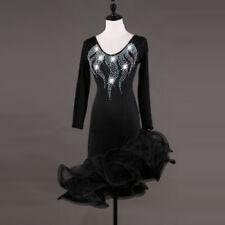 2019 Women's  Latin Rumba Tango Samba Diamante Competition Dance Dress