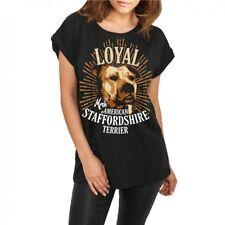 Las mujeres desenfadado camisa American Staffordshire Terrier raza Stafford listas perros