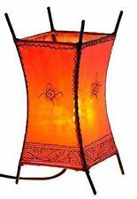 Orientalische Marokkanische Stehlampe Leder Lampe Hennalampe Lederleuchte CarreS