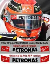 Visor Sticker fit Schumacher Kimi Raikkonen Petronas F1 Helmet Straight, Curved