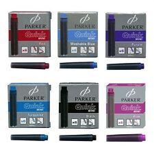 PARKER Mini Corto Cartucce di inchiostro per penne stilografiche-Nero o Rosa
