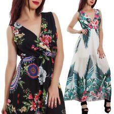 775f0c883950 Vestito donna abito lungo fantasia floreale velato scollato elegante JL-2679