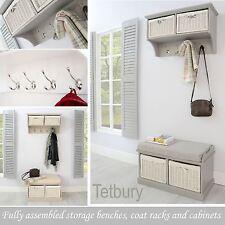 Tetbury Hallway set. Hanging shelf and bench. Very sturdy hallway furniture.