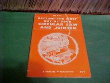 1949 HANDBOOK DELTACRAFT CIRCULAR SAW AND JOINTER