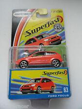 2004 MATCHBOX SUPERFAST #63 FORD FOCUS 1/15000