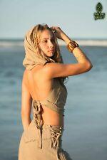Boho Hooded Top, Tribal Hippie Gypsy Pixie Fairy Elven Goa Rave Psytrance Hippy
