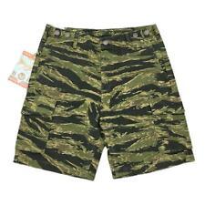 YiHaoTian Men's HBT Camo Shorts Summer Military Tiger Stripes Shorts Camouflage