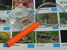 Mini Bug Hunting Kit Includes Mini,Bug Pot & Magnifying Glass & Spotter Cards