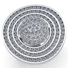 Real 5carat Round Cut Diamond Ladies Cluster Vintage Fancy Ring 18K Gold