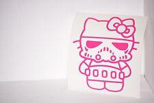 Stormtrooper Hello Kitty Vinyl Car Laptop Decal Sticker Choose Color Star Wars