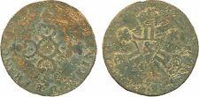 Louis XIV,6 deniers Dardenne, 171? Aix, cuivre