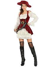 Déguisement pirate blanc et rouge femme Cod.313330