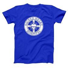 Sacred Heart Hospital Funny Nurse Medical Scrubs Show Royal Blue Men's T-Shirt