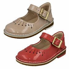 enfant fille CLARKS CUIR VERNI BOUCLE PREMIER chaussures décontractées Pointure