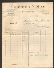 """STRASBOURG (67) SOIERIE """"N. MAY"""" en 1936"""