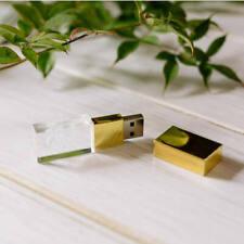 Crystal USB Flash Drives Customized 3D Logo Photo Studio Wedding Gift Pendrive