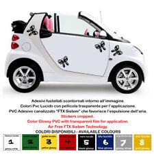 adesivi farfalle sticker batterfly pvc cropped auto smart 500 moto tuning 4 pz.