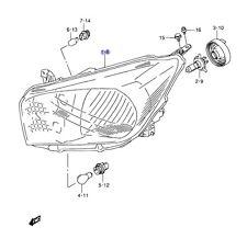 NEW Genuine Suzuki CELERIO Headlight Unit Head Lamp PASSENGER LEFT NEAR SIDE NSF