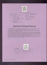 #2186 35c Dennis Chavez USPS #9111 Souvenir Page