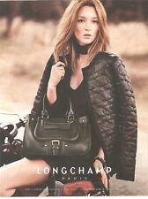 PUBLICITE ADVERTISING 2011 sac LONGCHAMP Prêt à Porter avec Kate Moss