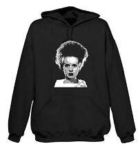Felpa con cappuccio della moglie di Frankenstein-Karloff Horror Gotico T-Shirt-S-XXL