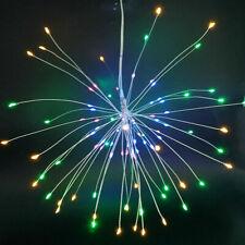 Led Starburst Twinkle Firework Hanging String Lights for Wedding Party + Remote
