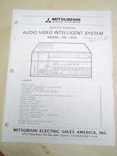 Mitsubishi Service Manual~DE-1000 Audio Video Intelligent System~Original~Repair