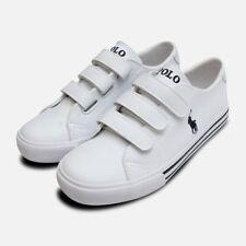 White Ralph Lauren Polo Slater EZ Kids Shoes