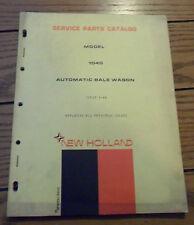 New Holland Service Parts Catalog Model 1040 Automatic Bale Wagon