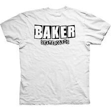 BAKER BRAND LOGO DUBS T SHIRT WHITE - S M L - NEW - SKATE SKATEBOARD FREE POST