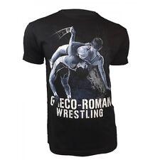 Men's GRECO ROMAN Wrestling Ringen Short Sleeve T-Shirt Training Slim Fit
