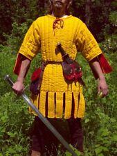 Gambeson Medieval Padded play movie Armor half sleeves