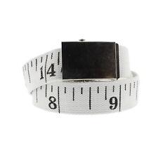 Zac's Alter Ego Adjustable Measuring Tape Canvas Webbing Belt with Slider Buckle