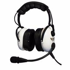 """NIB Avcomm AC-920 PNR """"White Knight"""" Premium Stereo Headset w/Flex Boom"""