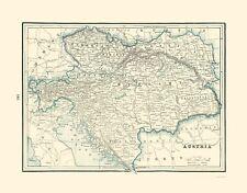 Old Austria Map - Rathbun 1893 - 23 x 29.44