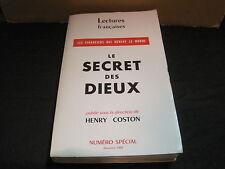 Henry COSTON: le secret des dieux  E.O. n°tée. ENVOI