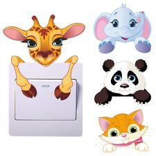 Cute Animals Wall Light Switch Sticker Kids Bedroom Vinyl Wall Decal Room Decor