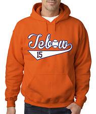 """ORANGE Tim Tebow """"Tebow Baseball"""" jersey Hooded SWEATSHIRT HOODIE"""