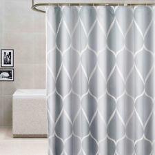 Light Gray Fabric Shower Curtain Liner Machine Washable Bathroom Shower Curtain