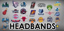 SALE! NBA Team Headband Sweatband Logoman - Several Teams Available- Worn by NBA