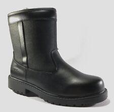 Totes STADIUM Mens Black WATERPROOF MEDIUM and WIDE Side Zip up Boots