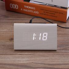 MINI digitale in legno LED SVEGLIA SUONO controllo temperatura data da tavolo