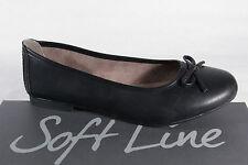 Soft Line Damen Slipper  Ballerinas schwarz  NEU!