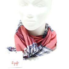 1235G sciarpa bordeaux blu bianco IL GUFO COTONE accessori uomo scarf women