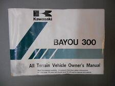 Kawasaki Owner's Manual 1996 Bayou 300