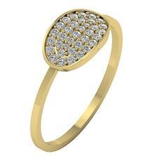 Genuine Diamond I1 H Engagement Wedding Ring 0.25Ct Yellow Gold 7.00MM SZ 4-10